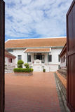 Historical building with traditional Thai roof  in Chankasem Old. Phra Nakhon Si Ayutthaya , Thailand - 31 July,2016 : Historical building with traditional Thai Stock Image