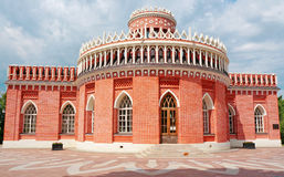 The historical building in Tsaritsyno museum and reserve (Moscow Royalty Free Stock Photo