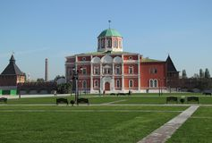 Historical building in Tula`s Kremlin stock images