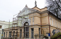 Historical building under reconstruction Royalty Free Stock Photos