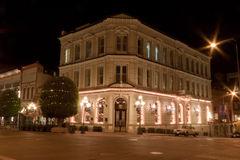 Historical Building in Vitoria at night. The facade of a typical three story historical building at night Stock Images