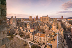 Historical building and Yale university campus Stock Images