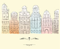 Historical buildings. Element for design  illustration Royalty Free Stock Images