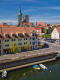 Historical buildings. In Stralsund (Germany Royalty Free Stock Photography