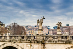 Historical buildings and architecture details in Rome, Italy Royalty Free Stock Images