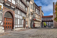Historical buildings in Braunschweig, Germany. Historical buildings on Burgplatz square in the centre of Braunschweig, Germany Royalty Free Stock Image