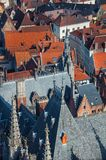 Historical buildings in Bruges Stock Image