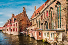 Historical buildings in Bruges Royalty Free Stock Photography