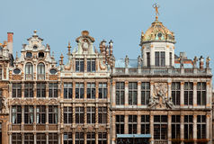 Historical Buildings of Brussels Grand Place Royalty Free Stock Photo
