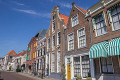 Historical buildings at a canal in Zwolle Stock Photo