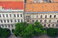 Historical buildings in the city center of Budapest Stock Images