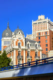 Historical buildings in the city centre of Madrid Royalty Free Stock Photos