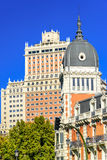 Historical buildings in the city centre of Madrid Royalty Free Stock Images