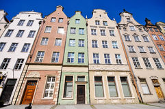 Historical buildings on Dluga street in Gdansk. Historical buildings in Old town of Gdansk on Dluga street Stock Photography
