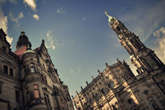 Historical buildings in Dresden Stock Photo