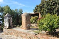 Historical buildings in fort Gibralfaro in Malaga Stock Photography