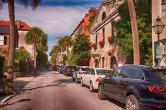 Historical buildings in the French Quarter royalty free stock photos