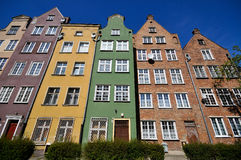 Historical buildings in Gdansk. Historical buildings in old town district of Gdansk Royalty Free Stock Photos