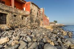 Historical buildings on Gorée Island royalty free stock photos