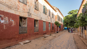 Historical buildings on Gorée Island Royalty Free Stock Photos