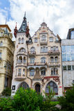 Historical Buildings in Karlovy Vary, Carlsbad Stock Photo