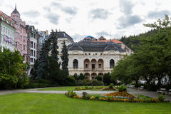 Historical Buildings in Karlovy Vary, Carlsbad Royalty Free Stock Photography