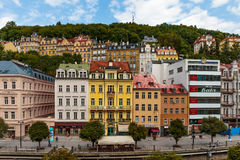 Historical Buildings in Karlovy Vary, Carlsbad Stock Images