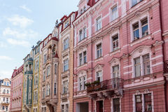 Historical Buildings in Karlovy Vary, Carlsbad Stock Photography