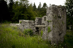 Historical buildings Longstone Manorburrator at Reservoir, near Yelverton, Devon Stock Photo