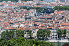 Historical buildings Lyon France Stock Images