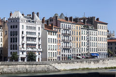 Historical buildings Lyon France Stock Image