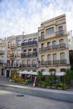 Historical buildings near port of Vigo, Vigo, Galicia, Spain royalty free stock photo