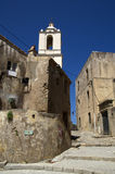 Historical buildings in old city Calvi on island Corsica,France Royalty Free Stock Image