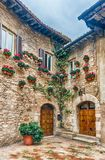 Historical buildings in the old city center of Assisi, Italy Stock Photo