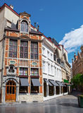 Historical buildings in the old town of Brussels. Royalty Free Stock Images
