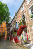 Historical buildings in the old town of Edinburgh, Scotland, UK Stock Photos