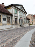 Historical buildings in old town of Kuldiga, Latvia Royalty Free Stock Photography