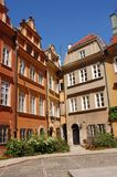 Historical buildings in Old Town of Warsaw Royalty Free Stock Photo