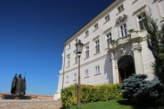 HISTORICAL BUILDINGS. A Part of the Nitra castle Stock Image