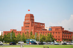 Historical buildings. On the People Square, Dalian, China Stock Image