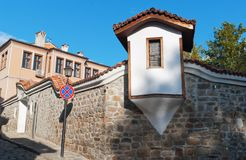 Historical buildings Plovdiv (Bulgaria) Royalty Free Stock Photography