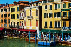 Historical buildings from Rialto bridge, Venice, Italy, Europe Royalty Free Stock Image
