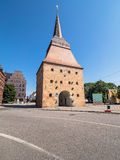 Historical buildings in Rostock Stock Image