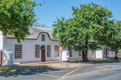 Historical buildings in Stellenbosch stock images