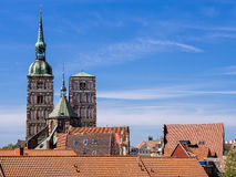 Historical buildings in Stralsund Royalty Free Stock Photo