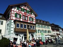 Historical buildings and traditional architecture, Stein am Rhein royalty free stock photography