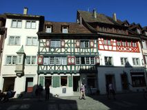 Historical buildings and traditional architecture, Stein am Rhein royalty free stock images