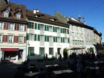 Historical buildings and traditional architecture, Stein am Rhein stock photos