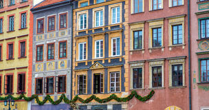 Historical buildings in the Warsaw Royalty Free Stock Image