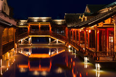 Historical Buildings in Wuzhen, China. Wuzhen is located in Zhejiang Province, China. Its a famous small town for travel in east China. It has a small river lies Stock Photography